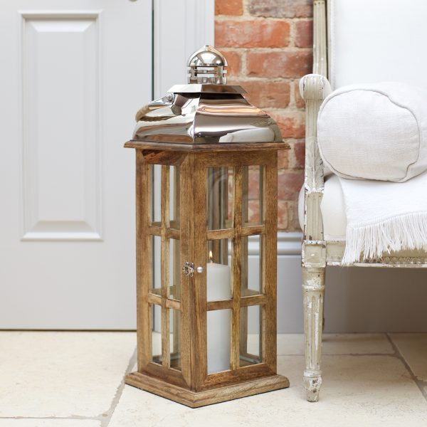 tall wooden lantern