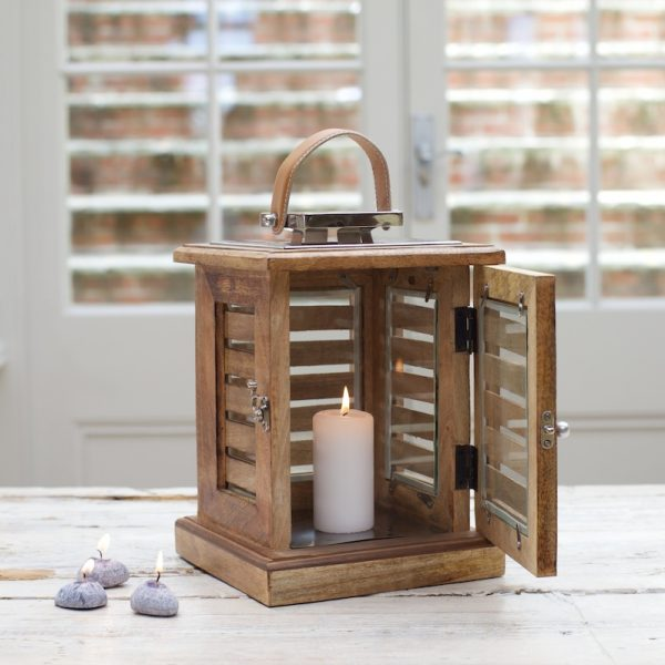 rustic wood lanterns