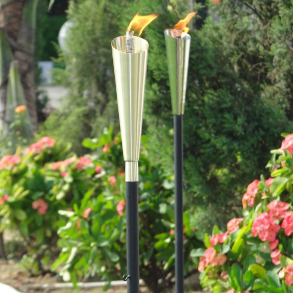stainless steel garden torch