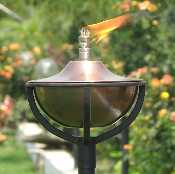 aged copper garden oil torch classica zaza homes