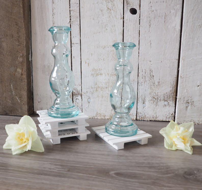 Recycled Glass Candlestick Celina Zaza Homes