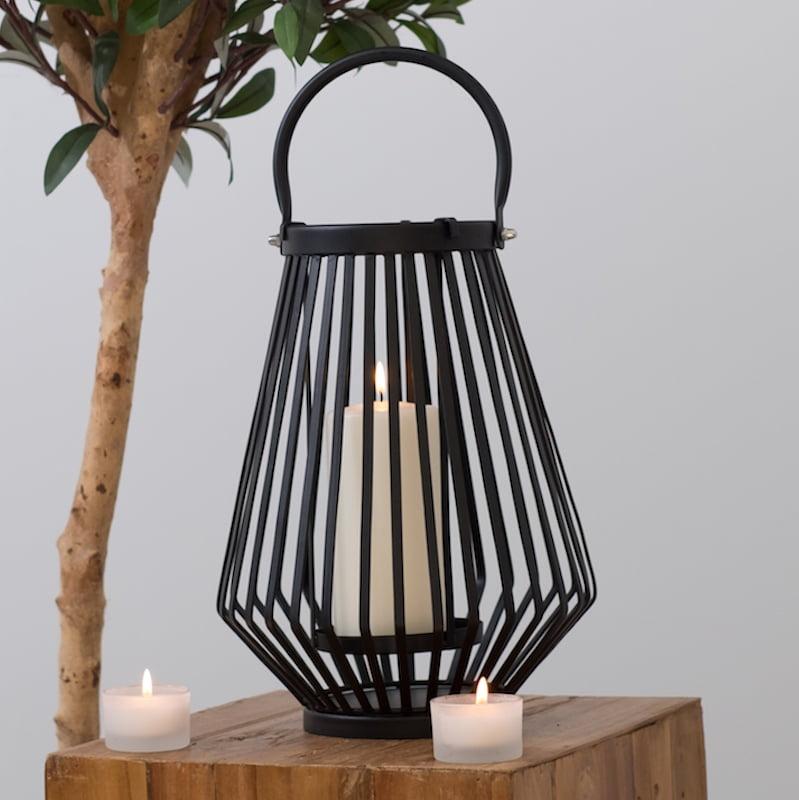 Black Hurricane Lantern Metal, Decorative Hurricane Lamps Black