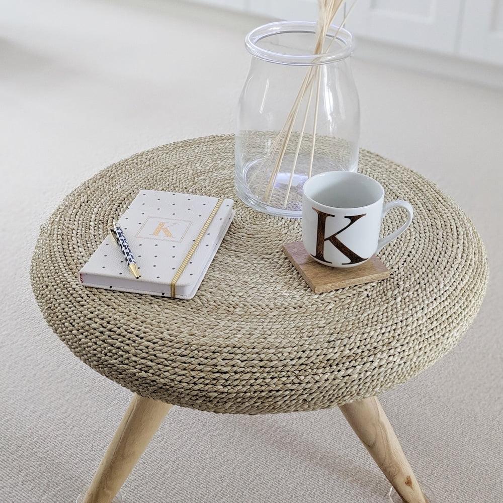 Rustic Round Wicker Coffee Table Za Za Homes