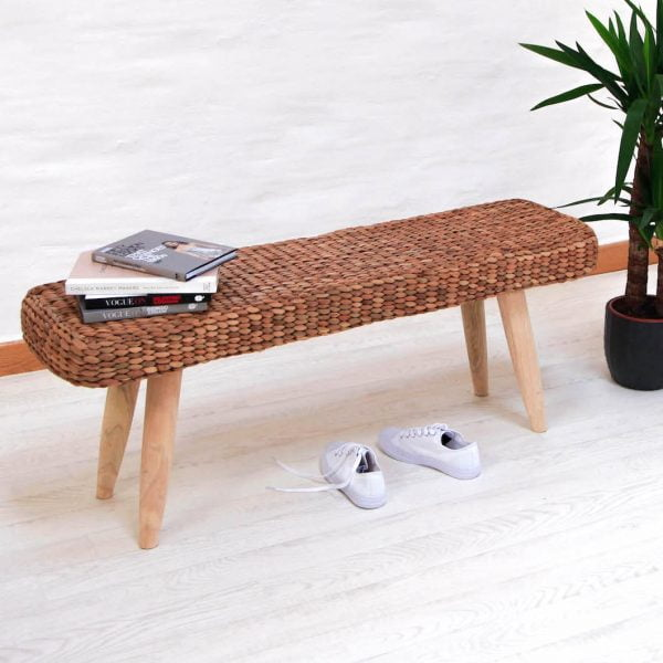 water hyacinth bench