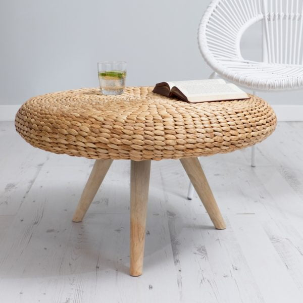water hyacinth round coffee table