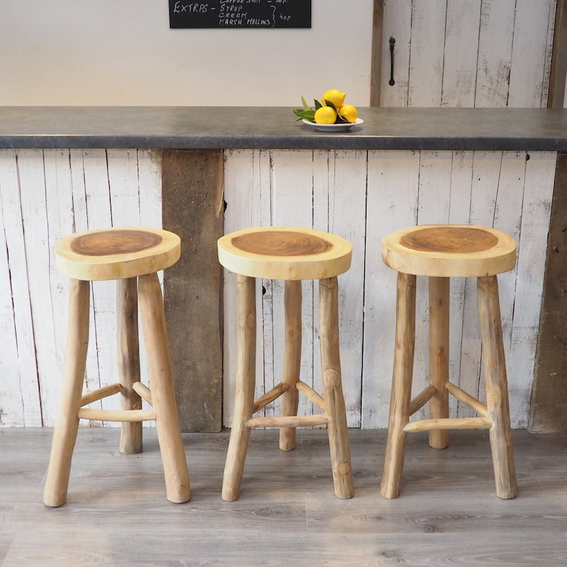 Rustic Kitchen Bar Stools: Rustic Breakfast Bar Stools