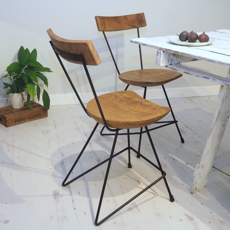 Industrial Wood Kitchen Chair Zaza Homes