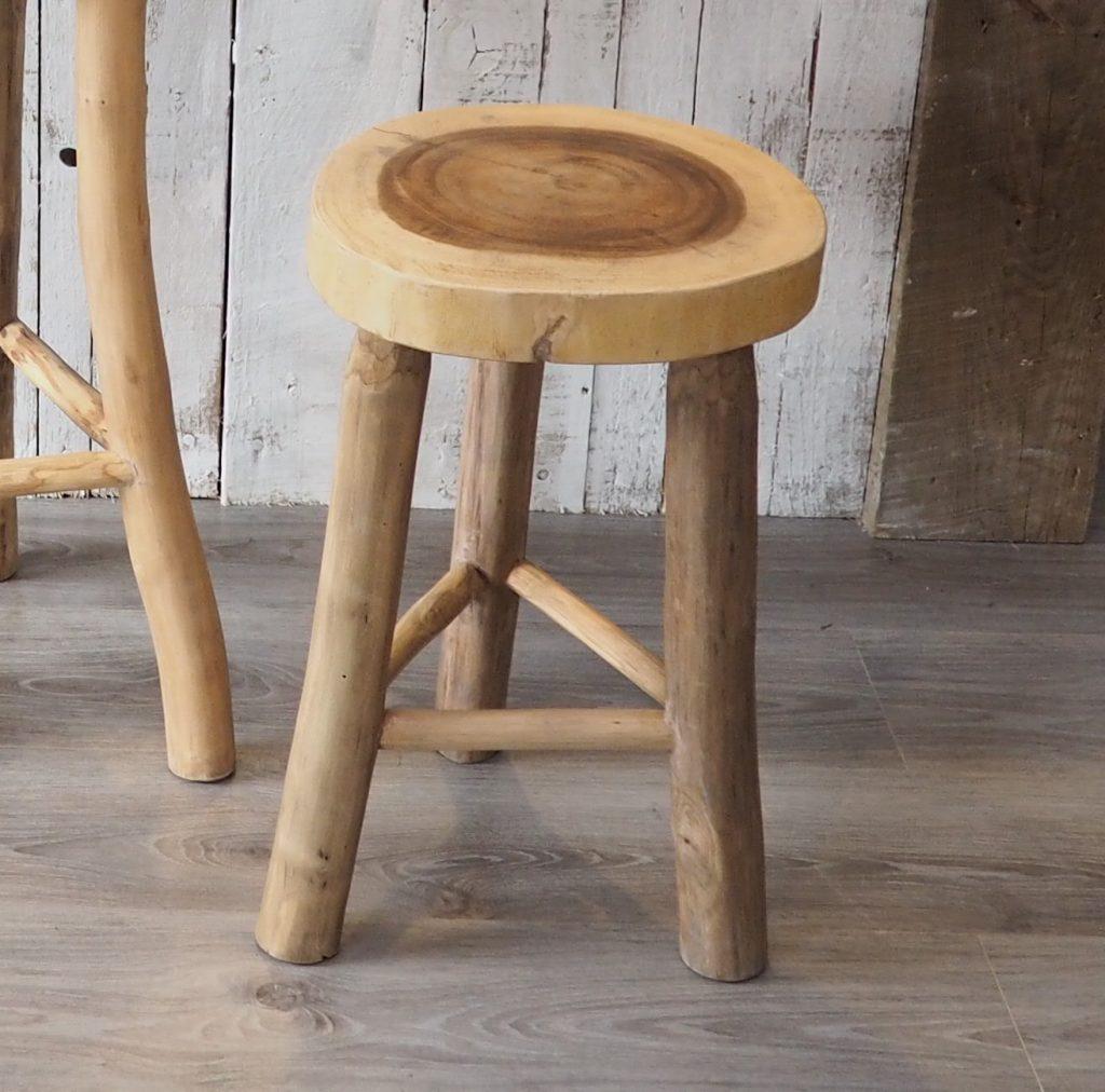 Small Rustic Wooden Stool Natural Wood Stool Za Za Homes