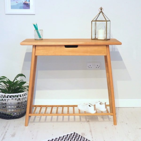 scandi console table