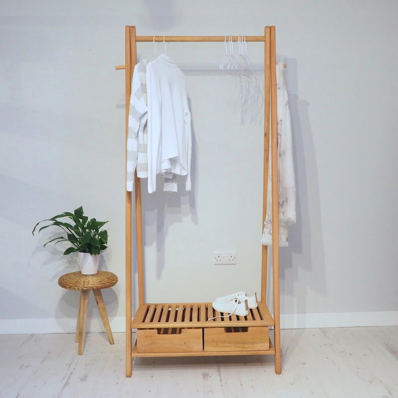 Wooden clothes rail stockholm zaza homes tweet sisterspd