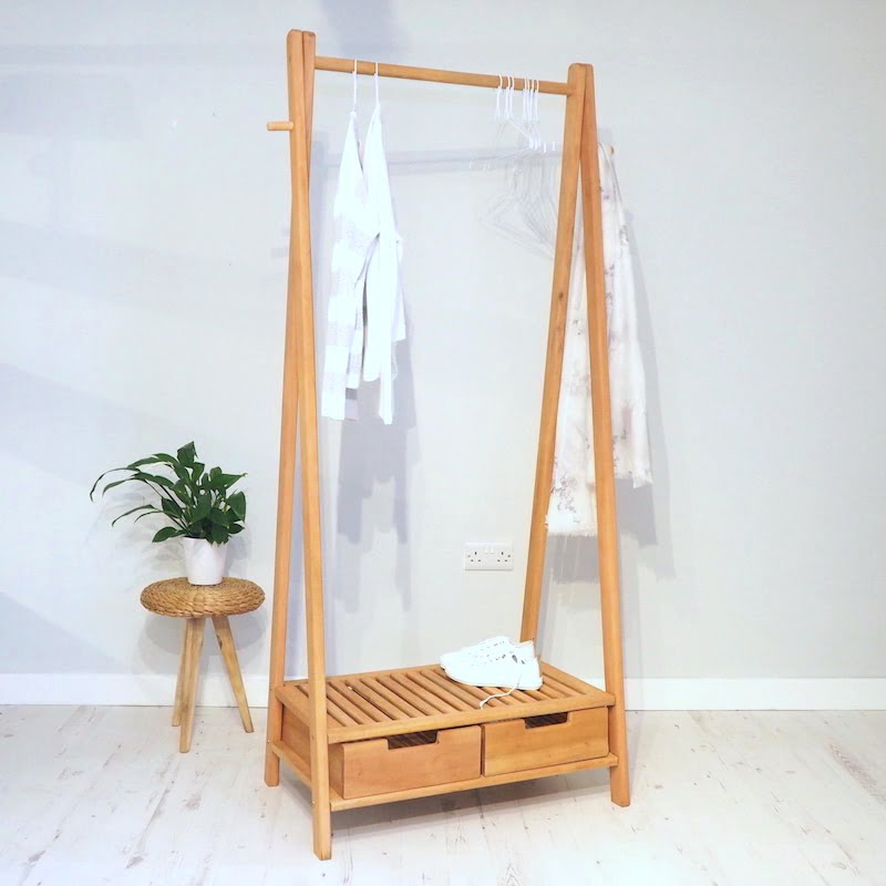 Wooden clothes rail stockholm zaza homes