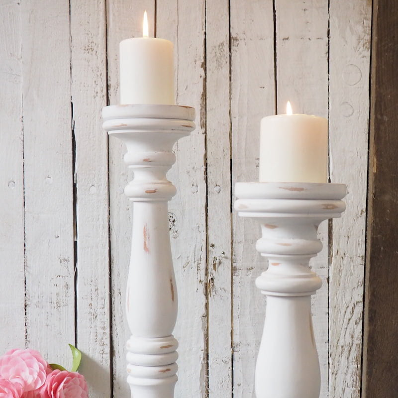 Tall Wooden Candle Sticks Large Pillar Candle Holders