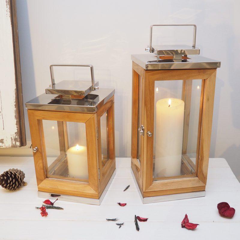 Wooden Candle Lantern Sandy Cove Zaza Homes