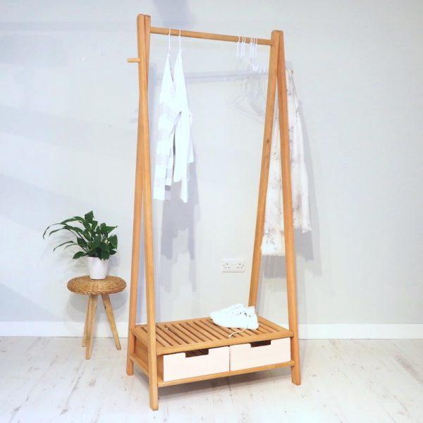 Wooden Clothes Rail - Stockholm - ZaZa Homes