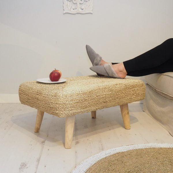 wicker footstool