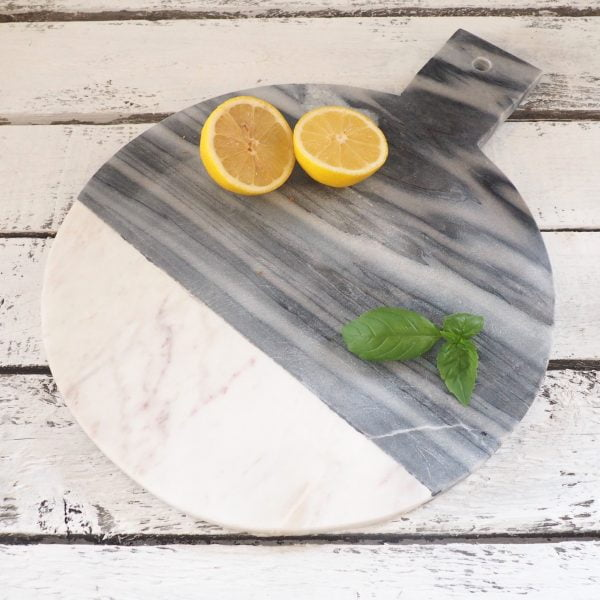 grey marble chopping board