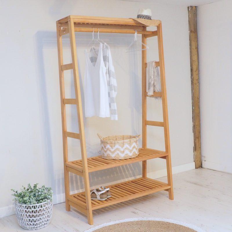 scandinavian clothes rail