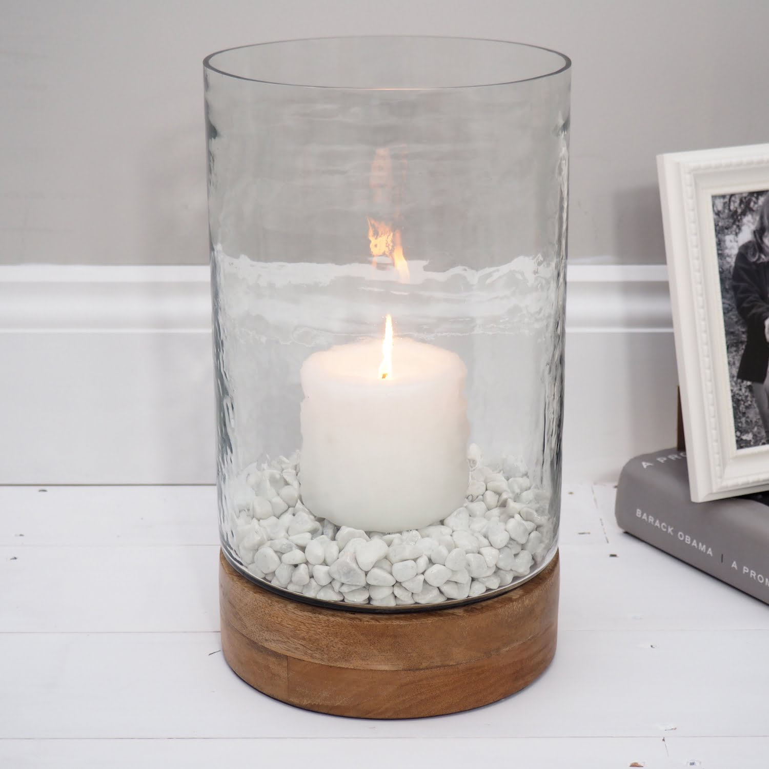 Glass Hurricane Lamps For Candles, Large Decorative Hurricane Lamps