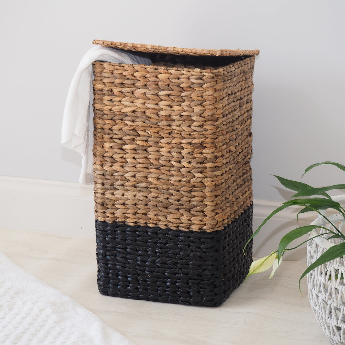 Square Wicker Laundry Basket Zaza Homes